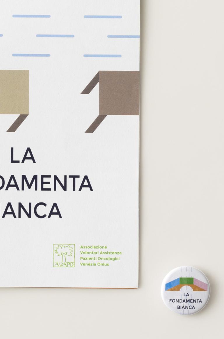 "Food raising ""La Fondamenta Bianca"" 2018 — Visual identity"