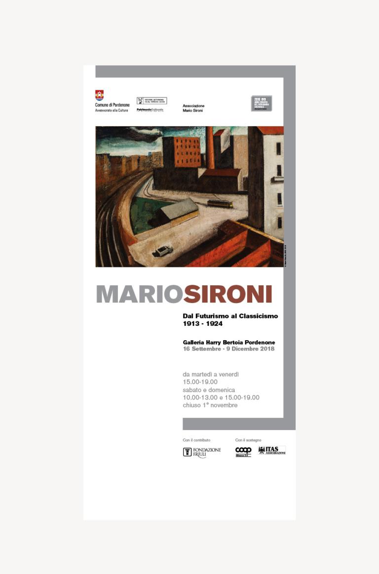 Mostra Mario SIRONI dal Futurismo al Classicismo — Visual identity