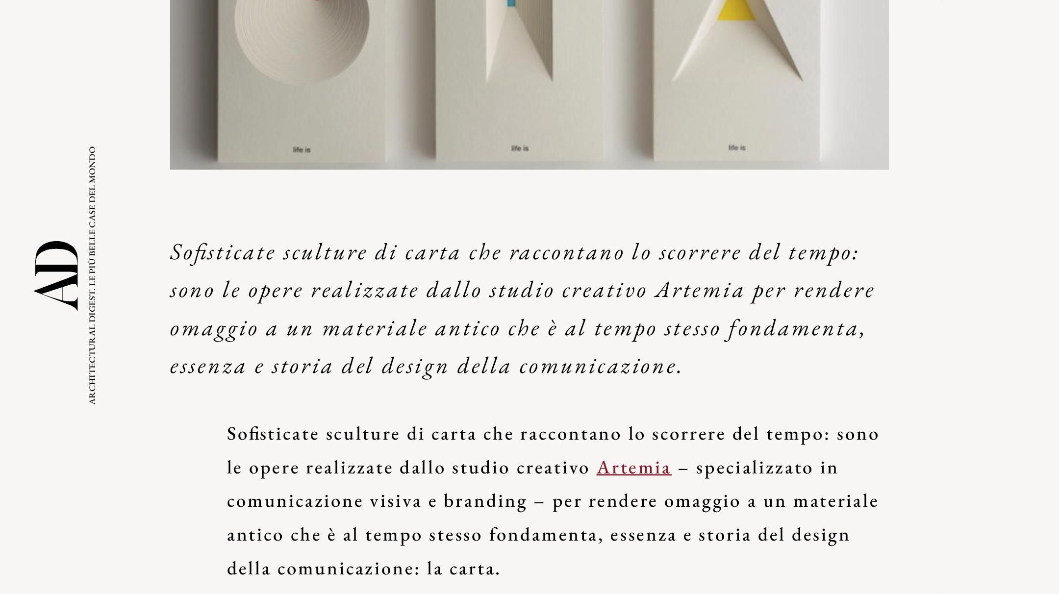 Perpetuo! e Nanetto! di Artemia pubblicato su AD italia design