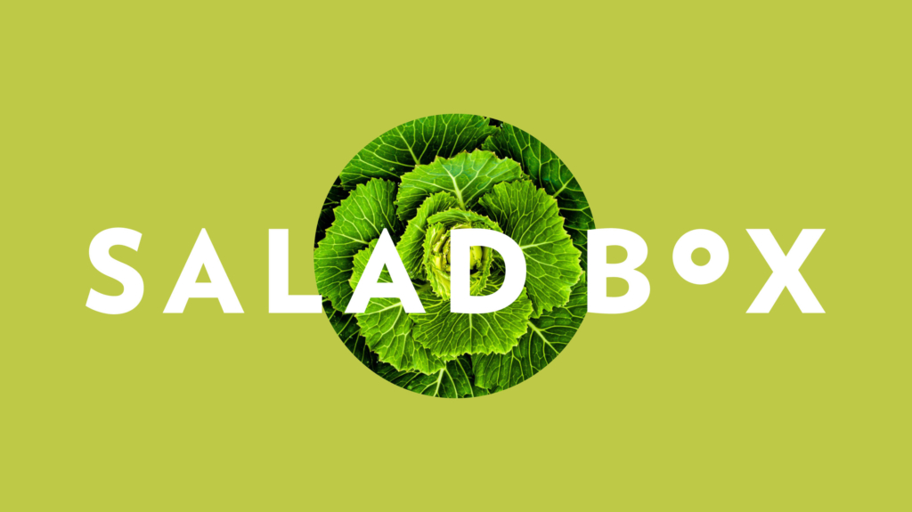 Salad Box italia visual identity e web design di Artemia