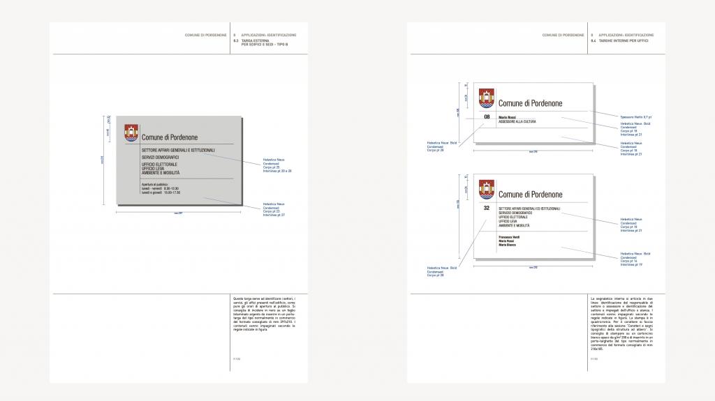 Visual identity comune di Pordenone artemia group