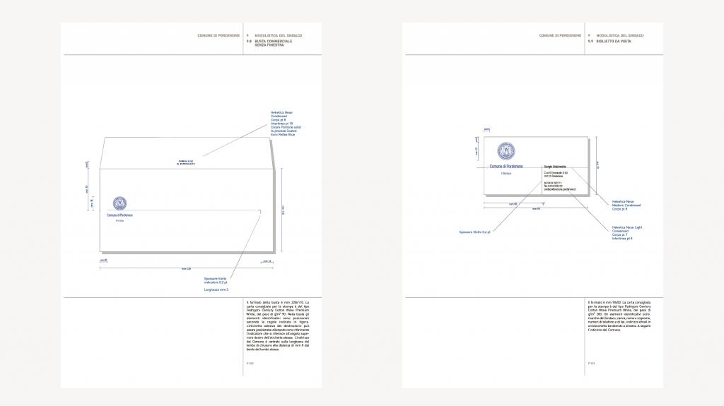 manuale d'uso nuovo logo Visual identity del comune di Pordenone