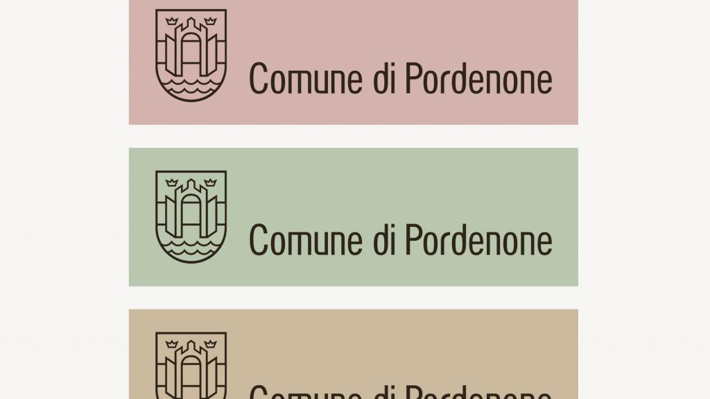 variazione colori logotipo Brand identity comune di Pordenone artemia group