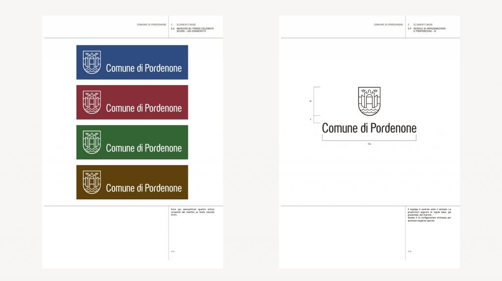 Brand identity comune di Pordenone artemia group