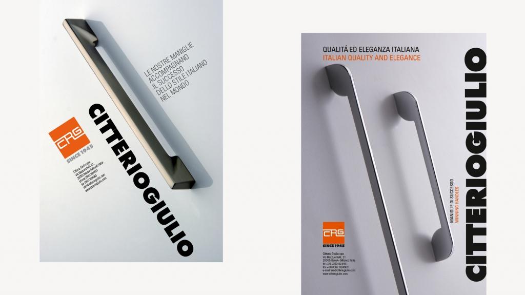 brand identity e grafica editoriale di Giulio Citterio maniglie