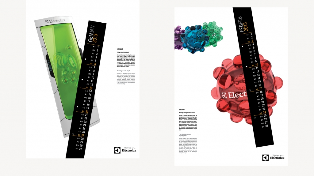 grafica editoriale calendario Electrolux 2013