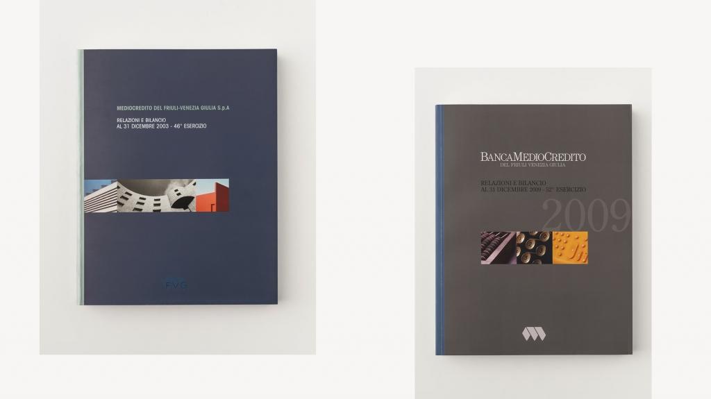 grafica editoriale Banca Medio Credito Friuli