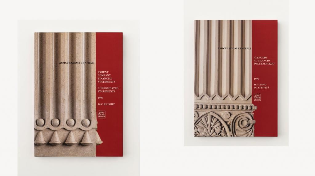 grafica editoriale copertina Assicurazioni Generali progetto Artemia Group