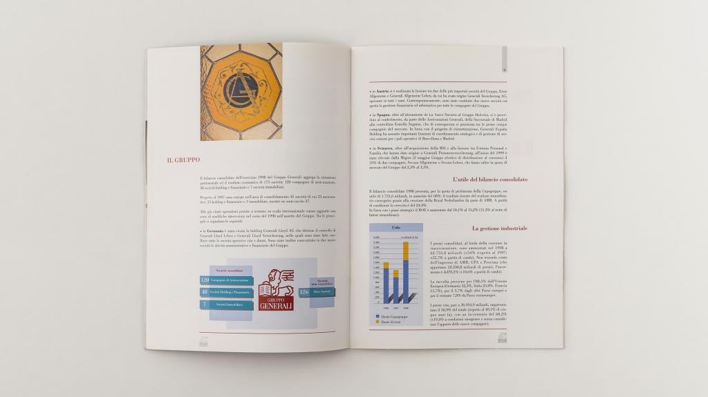 grafica editoriale Assicurazioni Generali progetto Artemia Group