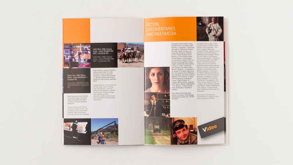 grafica editoriale brochure Videe design Artemia Group