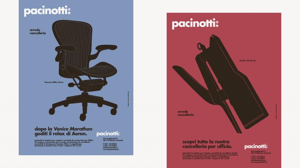 Progetto di brand identity per Pacinotti a Mestre Venezia disegnato da Artemia Group