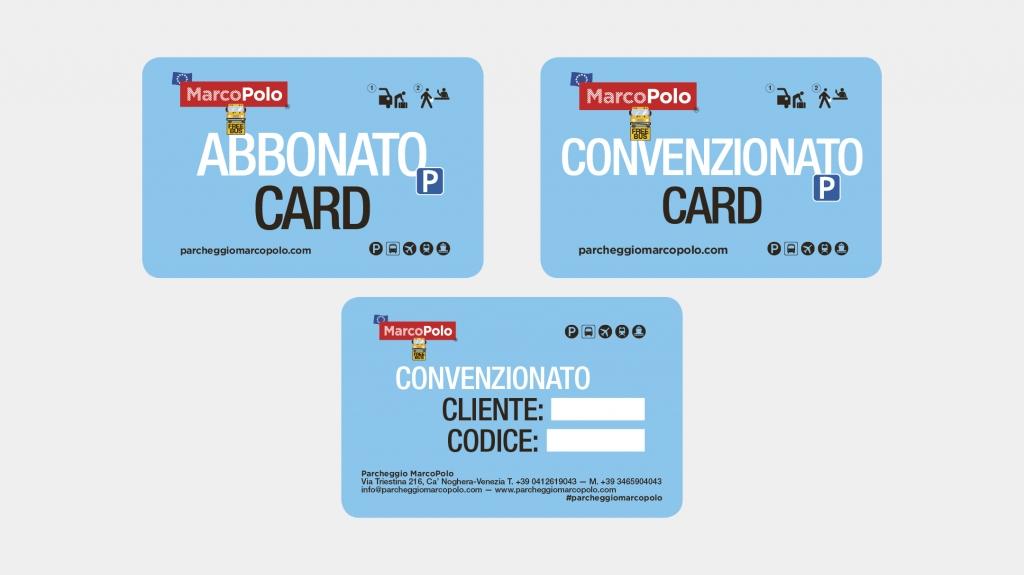 Card brand identity parcheggio MarcoPolo Artemia Group