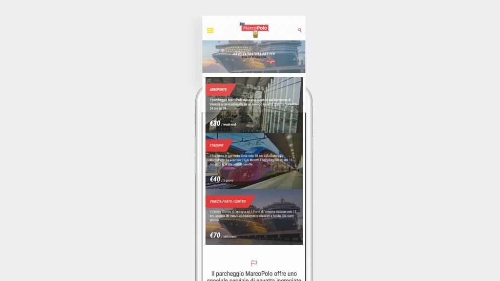 booking design web design iphone parcheggio MarcoPolo