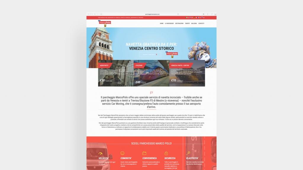 booking design web design desktop parcheggio MarcoPolo