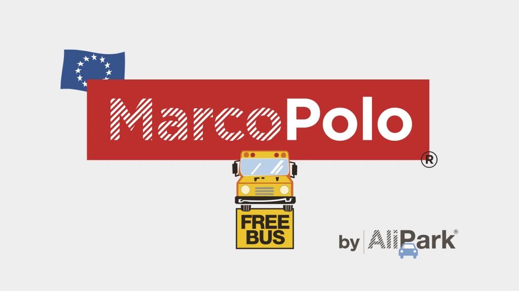 logo design parcheggio MarcoPolo