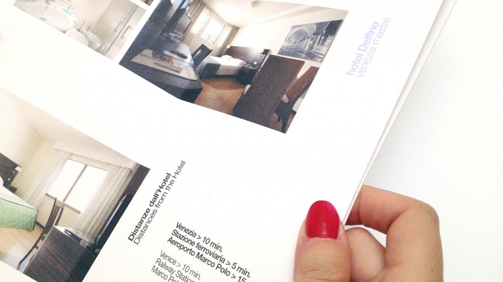 visual identity grafica editoriale Hotel Ambasciatori Delfino Venezia di Artemia Group
